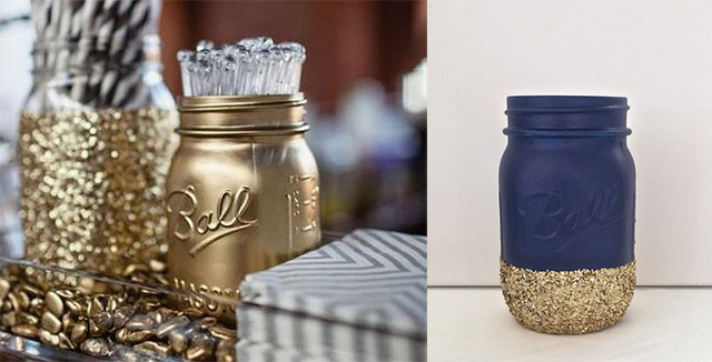 navy-and-gold-mason-jars