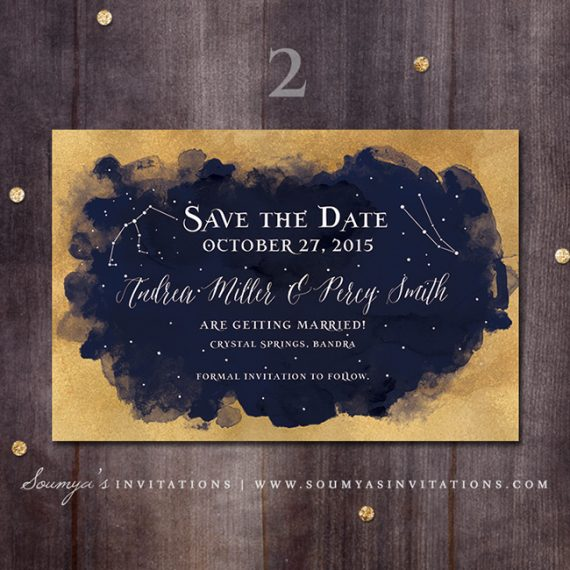 shop by color - Starry Night Wedding Invitations