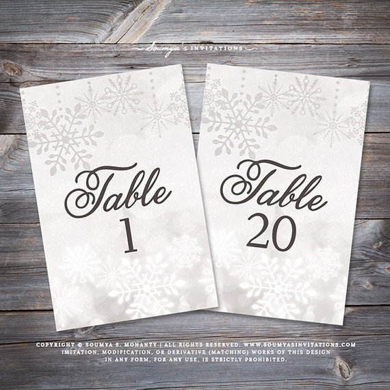 Winter Wedding Signs, Snowflake Wedding Signs, Silver Grey Wedding ...