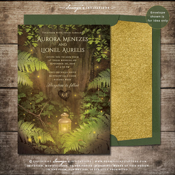 Enchanted Forest Fairy Tale Wedding Invitation, Secret ...