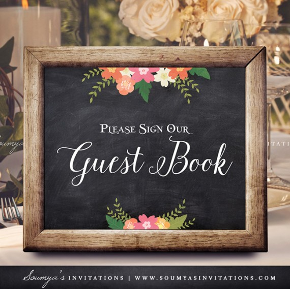 chalkboard wedding signs  wedding welcome sign  printable