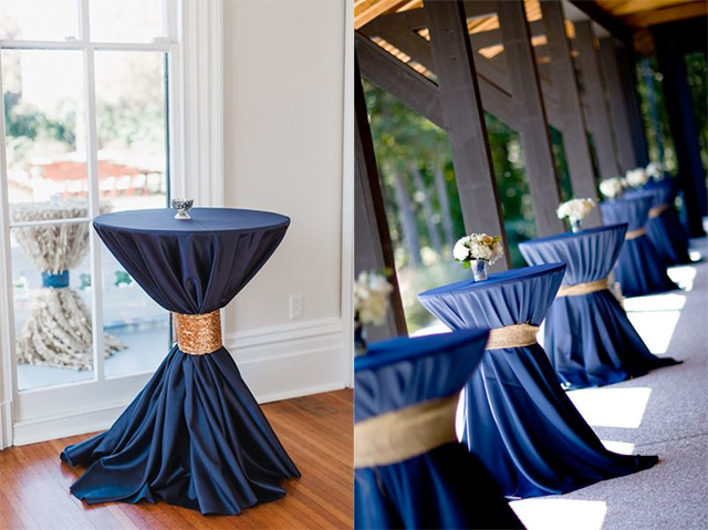 Navy And Gold Wedding Table