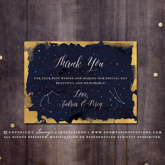 Constellation Wedding Invitation Gold And Navy Wedding