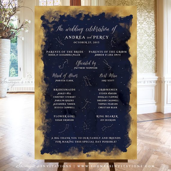 constellation starry night wedding signs decor  stars