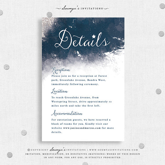 star celestial galaxy wedding invitation  watercolor